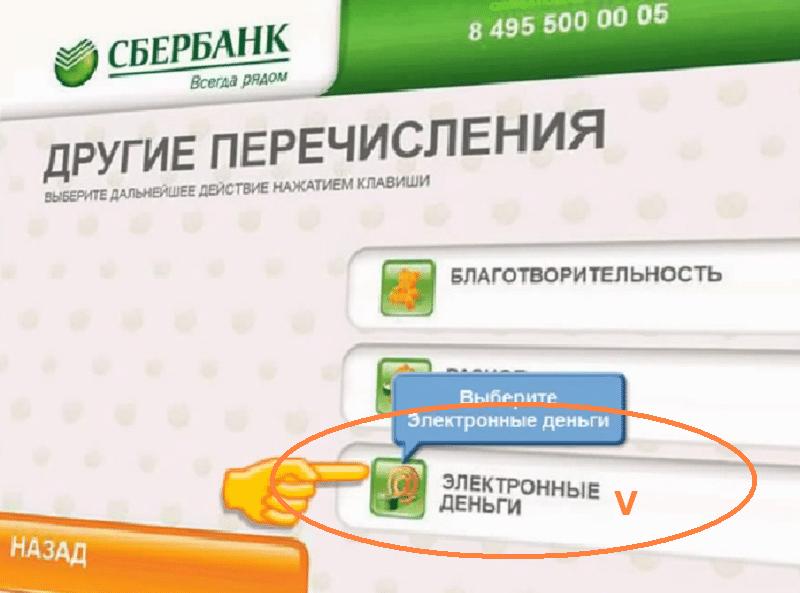 как делать перевод с карты сбербанка на яндекс деньги