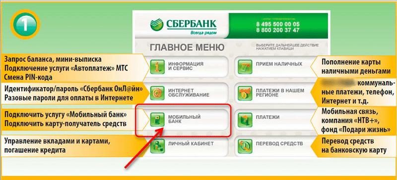 как быстро подключить мобильный банк Сбербанка