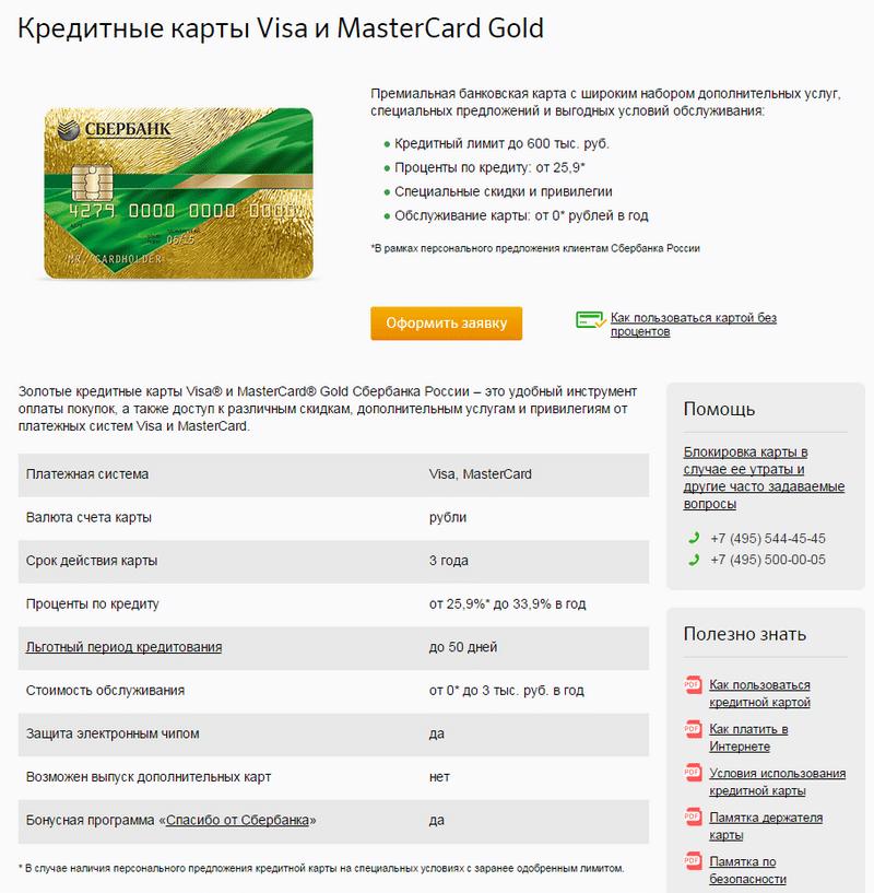 Как сделать кредитную карту сбербанк 664