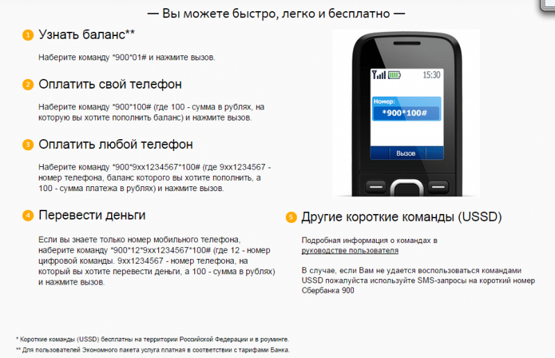 Оплата мобильного через сбербанк