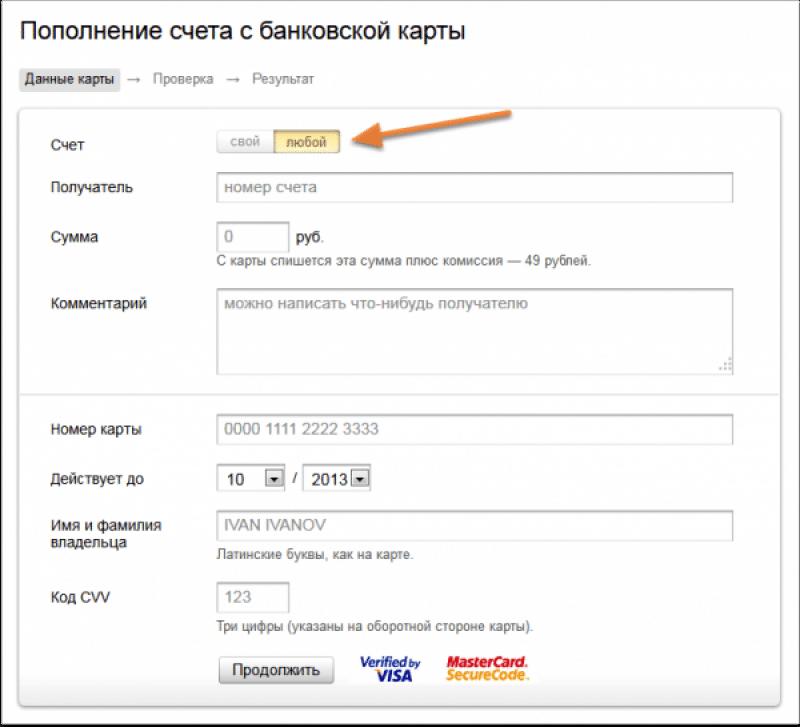 комиссия перевода Яндекс деньги на Яндекс деньги