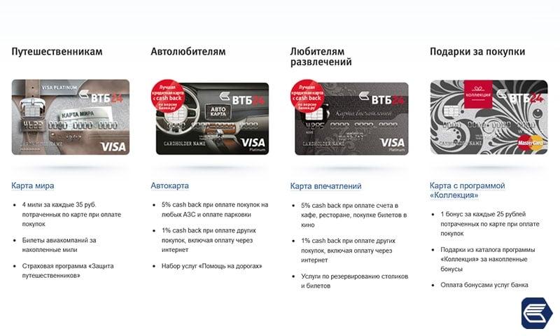 платиновая карта ВТБ 24 преимущества