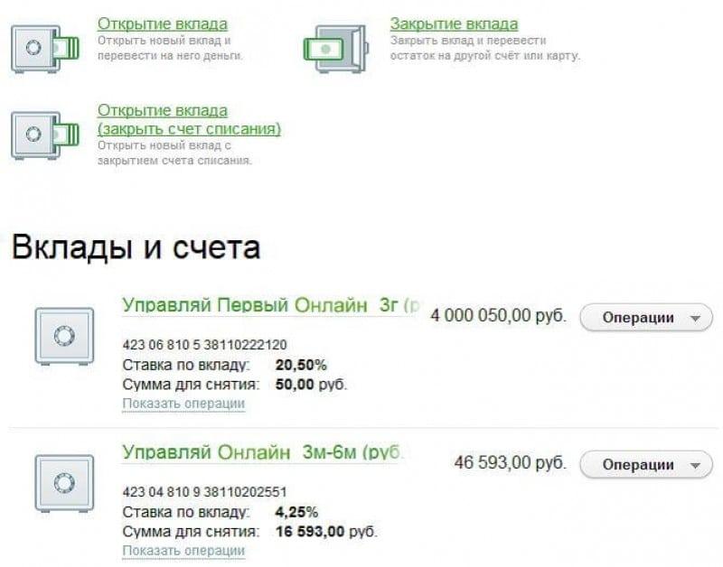 Вклады Сбербанка России