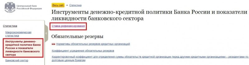 безрисковая ставка ЦБ РФ на сегодня