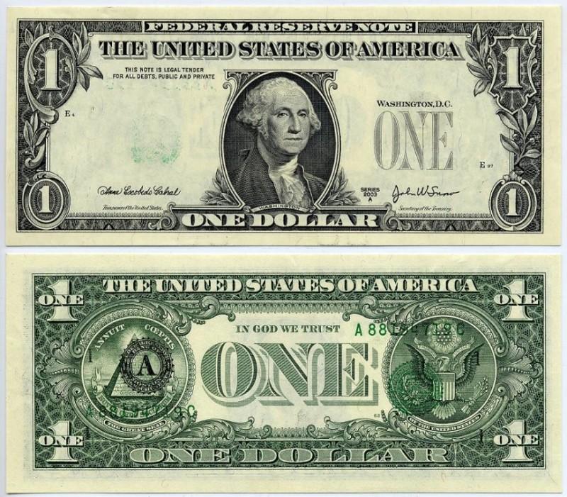 номиналы купюр долларов США