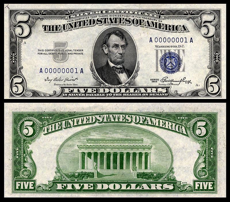 самая крупная купюра долларов США