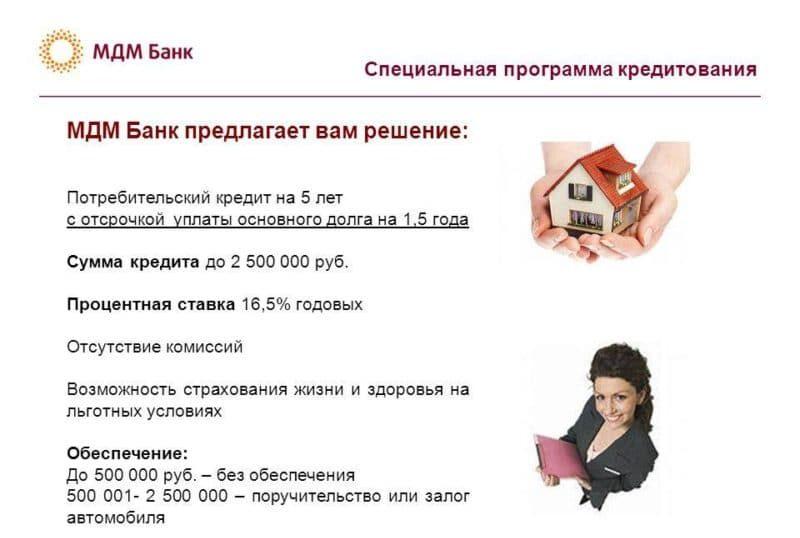 кредит наличными МДМ банка