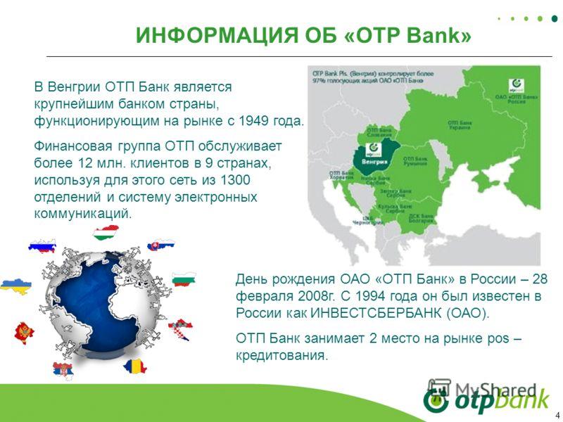 условия кредитной карты ОТП банка