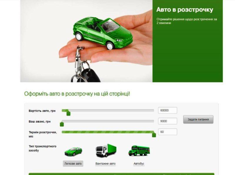 машину в кредит от Приватбанка