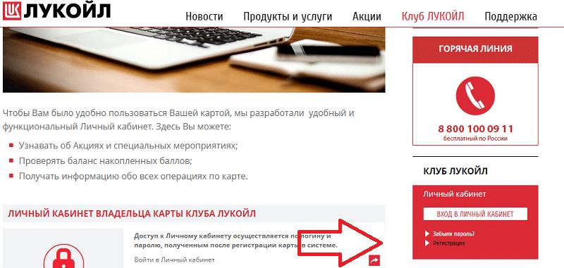 активировать карту Лукойл Открытие через интернет