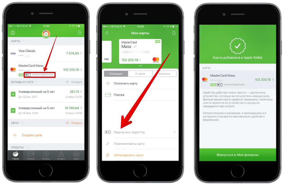 Какие карты Сбербанка поддерживают apple pay?