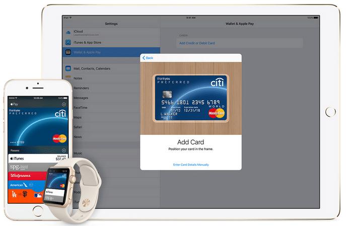 карта Apple Pay по умолчанию