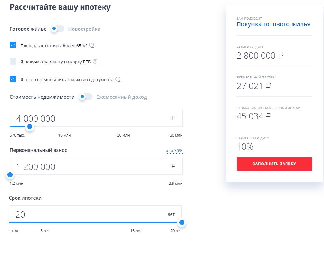 Как рассчитать ипотеку по зарплате