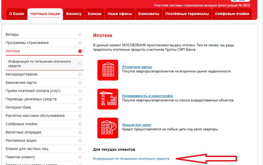 Ипотечный кредит Мособлбанк