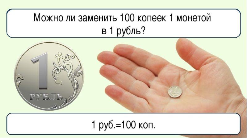 сколько копеек в одном рублей