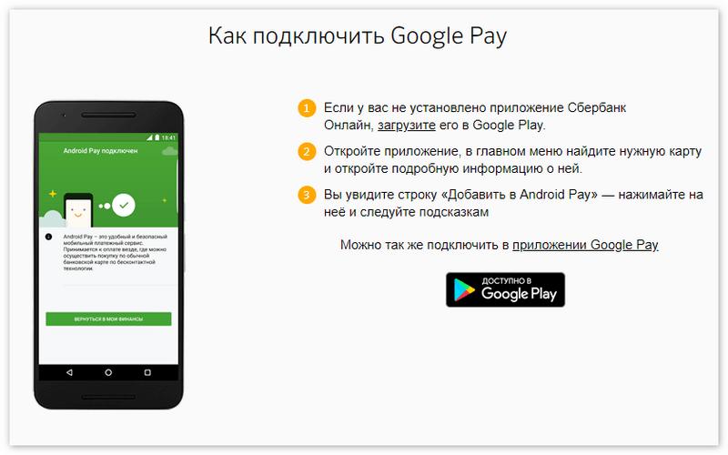 Бесконтактная оплата телефоном Сбербанк Андроид