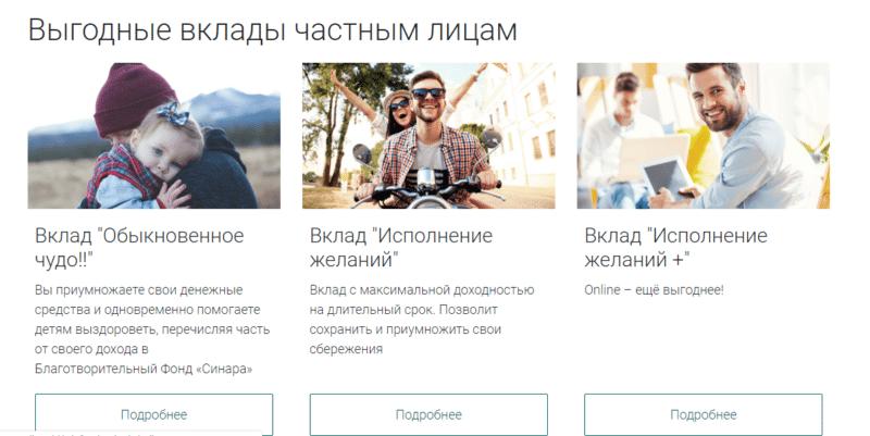СКБ банк вклады физических лиц
