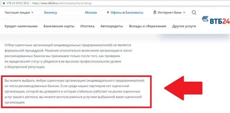 аккредитованные страховые компании ВТБ 24