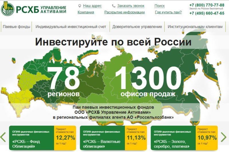 паевой инвестиционный фонд Россельхозбанка